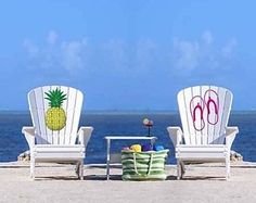 How great are these customized Adirondack chairs?! They would go perfect in your backyard for viewing sunsets and entertaining friends/family. #highdensitypolyethylene #outdoorfurniture #patiofurniture #melbournefl #centralflorida #floridabackyards http://ift.tt/2eJxQJB