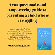 Are you the parent of a child who is struggling with a mental health challenge, ADHD, an autism spectrum disorder, or a similar challenge? This book can help. It's based on interviews with over 60 parents who have weathered this particular storm. The US and international edition was published today by Guilford Press.