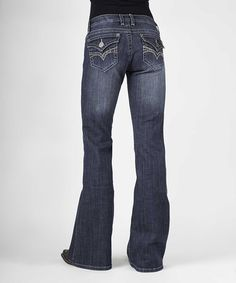 Look what I found on #zulily! Indigo Embellished Flap-Pocket Bootcut Jeans - Plus Too #zulilyfinds