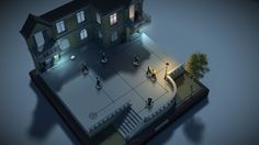 Hitman GO crops a 3D scene and sets it on a gameboard, giving it a puzzle-like appearance. Some of the scenes also have a more dollhouse look.