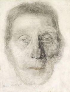 Portrait by Edvard Munch Figure Drawing, Painting & Drawing, Edward Munch, Photo Portrait, Faber Castell, Gravure, Oeuvre D'art, Figurative Art, Art Pictures