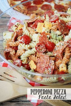 Pepperoni Pizza Pasta Salad | Mostly Homemade Mom