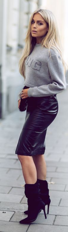 Alexander Wang For H&m Grey Crop Sweater