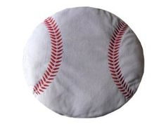 Baseball Plush Pillow, decor for sports themed boys bedroom