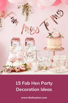Hen do decor is a topic we at The Foxy Hen could talk about for hours 😍❤️ There are so many creative ideas out there that clever hen party planners before us have sent out into the internet, ready to be plucked down to continue the glam hen do tradition.  To help take the hassle out of your hen do experience, we've done the research to bring you our favourite 15 hen party decoration ideas to suit your bride, your group and the whole feel you're going for. Hen Party Decorations, Bachelorette Decorations, Hen Party Food, Memory Frame, Party Planners, Before Us, Rose Water, Prosecco, Color Themes