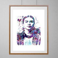 Frida Kahlo watercolor print Frida Kahlo Portrait by MimiPrints