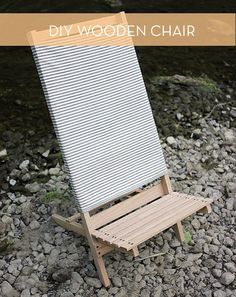 Make It: DIY Wooden Camp Chair » Curbly | DIY Design Community
