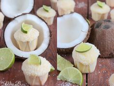 Miss Blueberrymuffin's kitchen: Sommerliche Kokos-Limetten-Cupcakes Cake Recipes, Snack Recipes, Snacks, Cake Cookies, Cupcake Cakes, Cupcake Ideas, Coconut Lime Cupcakes, Yummy Treats, Sweet Treats