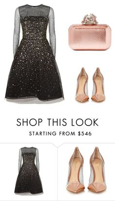 """""""Untitled #246"""" by elma-alibasic ❤ liked on Polyvore featuring Oscar de la Renta, Gianvito Rossi and Jimmy Choo"""