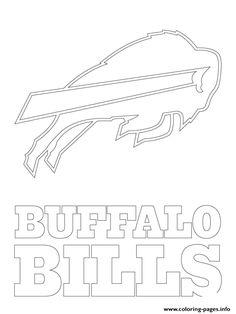 Print buffalo bills logo football sport coloring pages