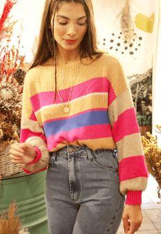 34193 trico polar listrado mundo lolita 06 Ideias Fashion, Men Sweater, Sweaters, Baby, Tricot, World, Style, Men's Knits, Sweater