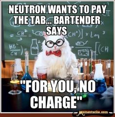 Neutron wants to pay the tab... Bartender says