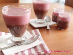 Qué te apetece hoy? Cuajada de chocolate y fresa sin azúcar