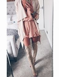 Love this look and color of the dress and boots ❤