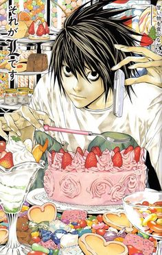 deathnote : L lawliet magazine over
