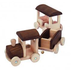 Juguete Tren de madera natural
