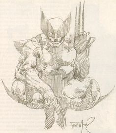 marvel1980s:  Wolverine sketch by Frank Miller, early 1980s