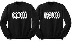 Matching bff sweatshirt. Matching best friend sweatshirts. Matching sister shirts. Funny twin shirts. Matching sibling shirts. Bff shirts. #matchingsiblingshirt #matchingbestfriendsweatshirt