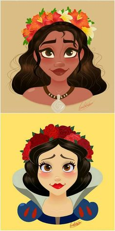 Snow White and Moana