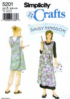 Simplicity 5201 Sewing Pattern Daisy Kingdom Aprons Size 10 - 24 | yourpatternshop - Craft Supplies on ArtFire