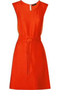 Vionnet Silk georgette-trimmed crepe dress