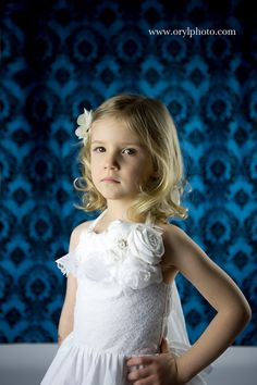 White Dress, Flower Girl Dress with lace and Flowers, Halter Dress, Lace dress on Etsy, $48.00
