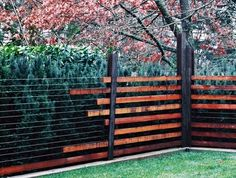 4 Good-Looking Clever Tips: Farm Fence Livestock fence panels projects.Fence And Gates Australia fence colours black.Tree Fence Line. Fence Landscaping, Backyard Fences, Garden Fencing, Garden Beds, Ranch Fencing, Bamboo Fencing, Garden Care, Farm Fence, Front Yard Fence