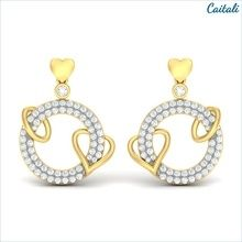 Chamun Yellow Stud Earring - Caitali (Sterling Silver)