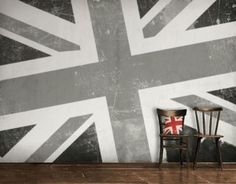 Union Jack Wall ~ LOVE THIS!