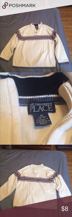Kids Pullover off white color! Children's Place! Great Condition! Children's Place Jackets & Coats