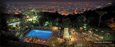 Cavalieri Hilton in Rome. Overlooks the city. Stayed here for a week best view of Rome.