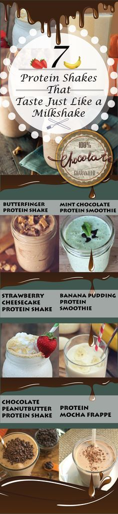 Yummy Protein Shake Recipes. 7 Protein Shakes That Taste Like a Milkshake.  Milkshake or Protein Shake? You can't tell the difference!