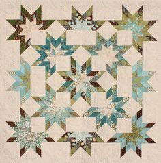 Star burst jelly roll quilt pattern