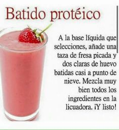 10 Ideas De Batido De Proteina Caseros Batido Proteinas Casero Batidos De Proteína Batido