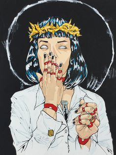 Mother Mia by Rob Regis Arte Pulp Fiction, Arte Hip Hop, Mia Wallace, Non Plus Ultra, Goth Art, Horror Art, Art Inspo, Illustration, Sketches