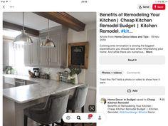 Budget Kitchen Remodel, Kitchen Cabinet Remodel, Cooking, Kitchen Ideas, Home Decor, Kitchen, Decoration Home, Room Decor, Home Interior Design