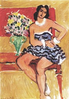 Dancer in a Blue Tutu, 1942, Henri Matisse