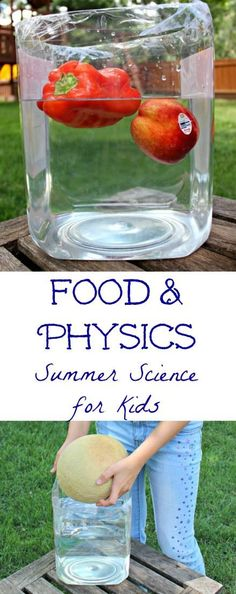 Super Simple Summer Science: Does your food float? classic physics experiment for kids {free printable included!}