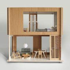 Miniio miniature design furniture dollhouse, mcm style