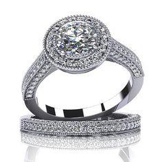 $3,847  -  1.84 CARATS ROUND * EGL CERTIFIED * DIAMOND HALO BRIDAL SET ON 14K SOLID WHITE GOLD F 26 D http://www.amazon.com/dp/B00OU0P448/ref=cm_sw_r_pi_dp_QXNyub1GWMWY7