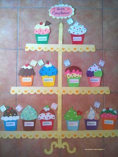 Ideas birthday board classroom small for 2019 Birthday Display, Birthday Wall, Birthday Kids, Birthday Cupcakes, Birthday Balloons, Birthday Message, Decoration Creche, Birthday Bulletin Boards, Infant Activities