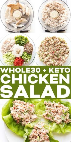 Savory + Keto Chicken Salad Recipe - packed with vegetables and herbs. Serve as a wrap on lettuce. You have to try this simple Paleo, gluten free, dairy free lunch next time you meal prep! recipes dairy free The BEST + Keto Chicken Salad Whole Foods, Whole Food Recipes, Healthy Recipes, Whole 30 Salads, Whole 30 Meals, Whole30 Recipes Lunch, Whole 30 Lunch, Primal Recipes, Healthy Breakfasts