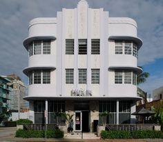 art deco | Marlin Hotel - Art Deco architecture on Collins Ave. Miami Beach