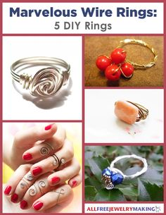 With Marvelous Wire Rings: 5 DIY Rings, you will be able to make a homemade ring for any occasion and for any sense of style. Each project will help you learn a new skill while creating a stunning set of DIY wire rings. Wire Rings Tutorial, Ring Tutorial, Wire Jewelry Making, Jewelry Making Tutorials, Free Tutorials, Beading Patterns Free, Jewelry Patterns, Bead Patterns, Ring Ring