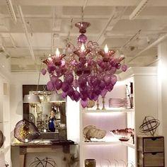 Bernalda Purple Glass Chandelier is so glam!