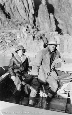 The Grand Canyon mystery - Glen and Bessie Hyde were newlyweds who disappeared while attempting to run the rapids of the Colorado River through Grand Canyon, Arizona in 1928. Their scow was found adrift around river mile 237, upright and fully intact, with the supplies still strapped in. A camera recovered from the boat revealed the final photo; taken near river mile 165. No trace of them were ever found.