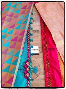 Crochet Saree Tassels Saree Tassels Designs, Saree Kuchu Designs, Wedding Saree Blouse Designs, Wedding Silk Saree, Silk Saree Blouse Designs, Choli Blouse Design, Saree Jewellery, Silk Saree Kanchipuram, Hand Embroidery Dress