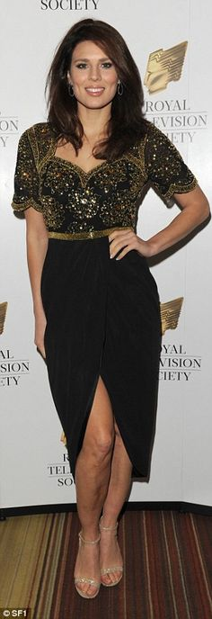 Moore is Moore:Hollyoaks hottie Twinnie Lee Moore ramped up the glam-factor in gold and bl...
