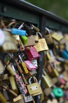 Paris, France- Love Lock Bridge
