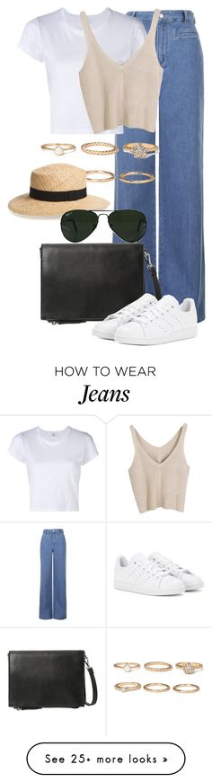 """""""Untitled #2369"""" by annielizjung on Polyvore featuring Topshop, RE/DONE, Forever 21, Violeta by Mango, adidas, BP. and Ray-Ban"""